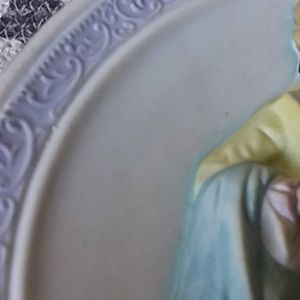 unknown Wall Art - Vintage Bisque Wall Plaque